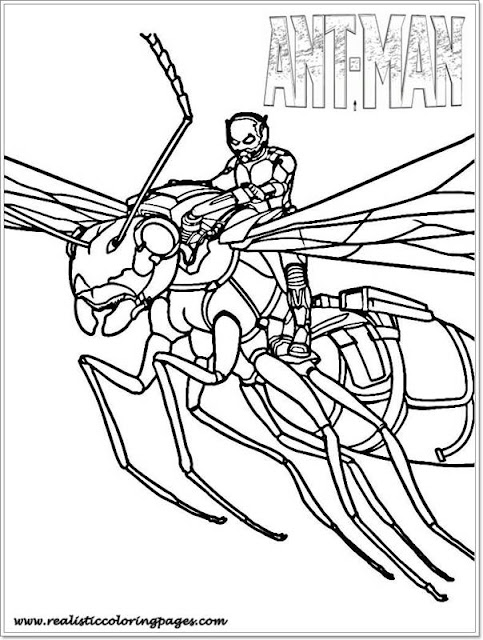 Printable Ant Man Coloring Pages For Toddler
