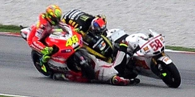 Car Under 500 Dollars: Marco Simoncelli crash - MotoGP Malaysia