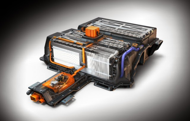 image of a electric car's battery pack.