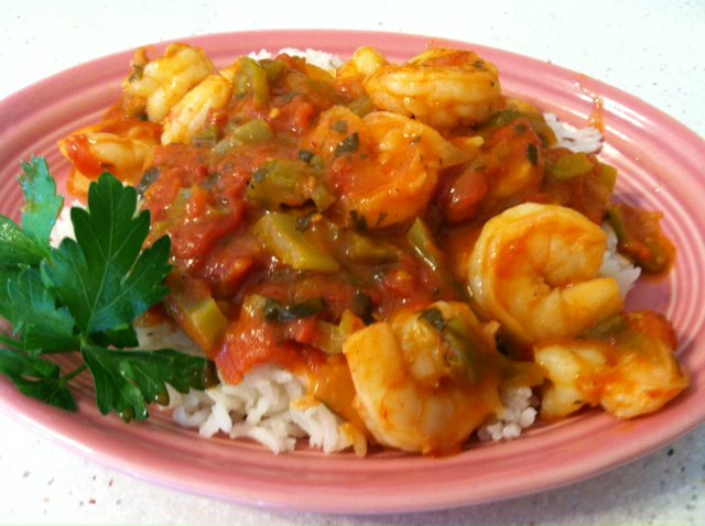 CROWDED KITCHEN: New Orleans-Style Shrimp and Rice