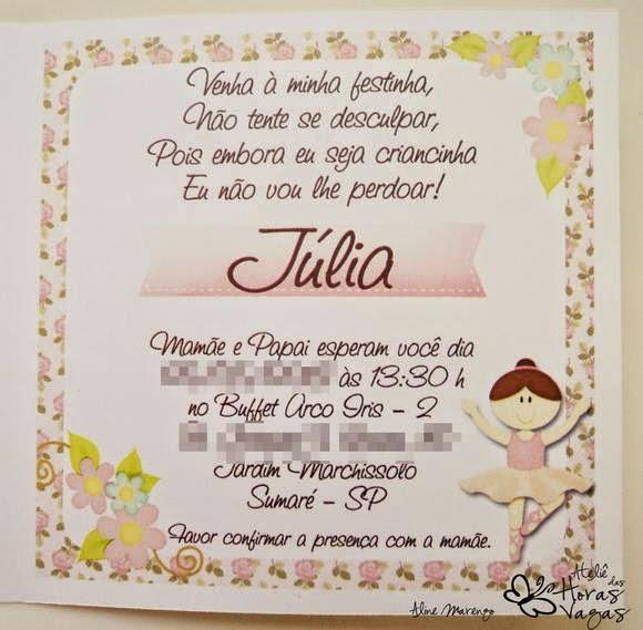 Frases Para Convites De Aniversário Infantil Mãe Para Sempre