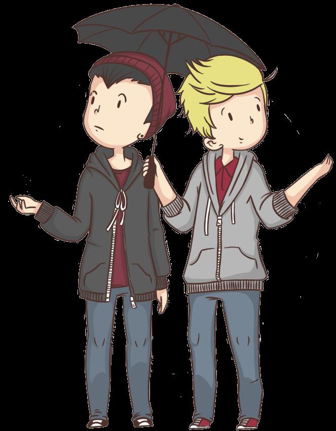 Fotos y Cosas PNG'S: Lindos Muñequitos animados de One Direction.