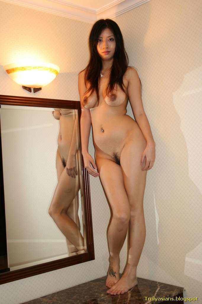 Innocent pale nude girl