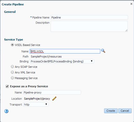 Create proxy Service