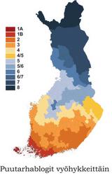 Finska trädgårdsbloggar enligt zon