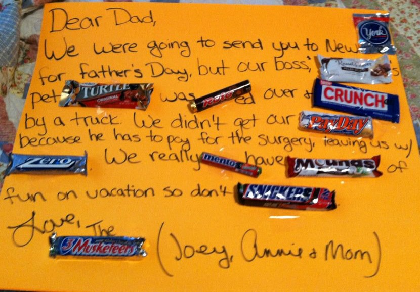 easy and sweet homemade fathers day gift