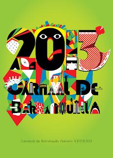 Afiche Carnaval de Barranquilla 2013