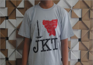 Kaos Distro I Love Jakarta real | Distro Gaul