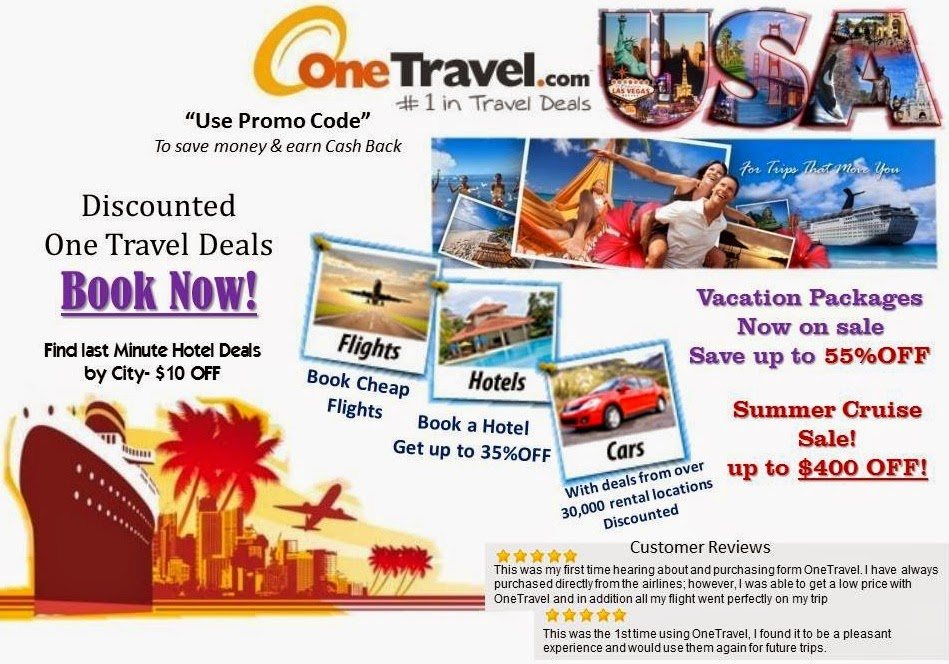 Take advantage of OneTravel booking tools to book cheap flights and cheap tickets to top destinations. Our dedicated team of travel experts always ensures that you get the lowest airline tickets and exclusive travel deals. Saving big on flight tickets is so easy with OneTravel.