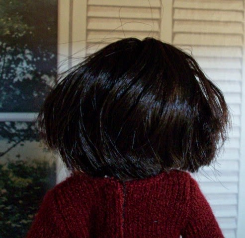 Kenya World Beverly Hills doll back head, hair cut