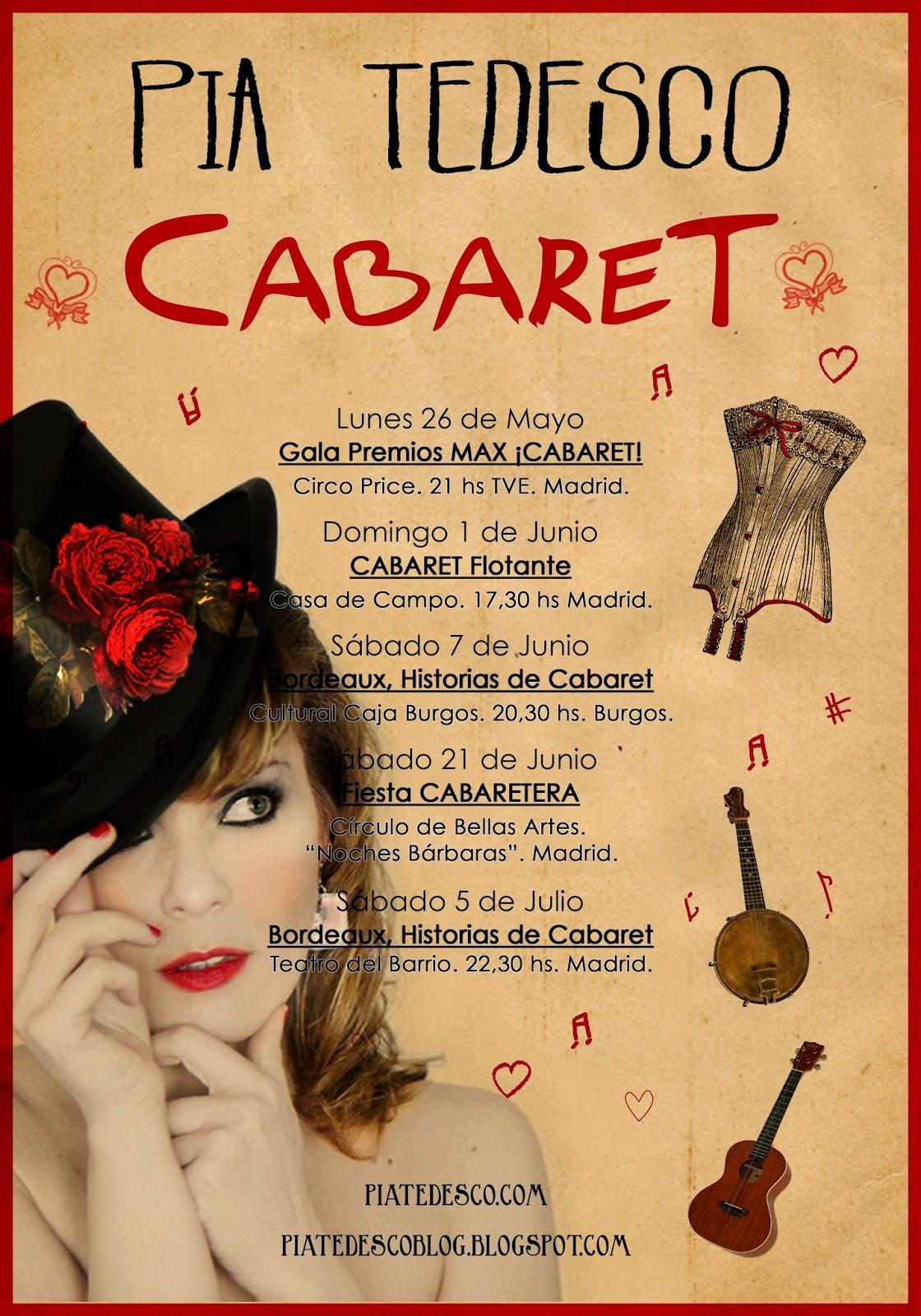 Pia Tedesco Agenda Cabaret España