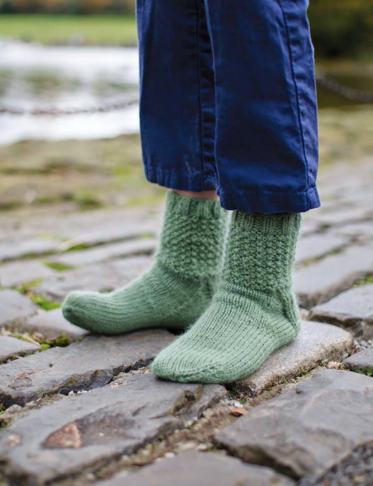 Cobbles sock pattern by Katya Frankel