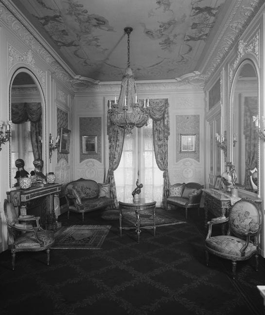 The Drawing Room Was Practically Two Small Parlors Connected Together