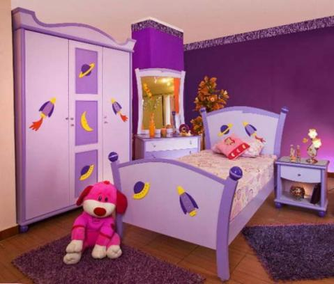 Ideas for girls bedroom decoration with purple ideas for home decor - Purple room for girls ...