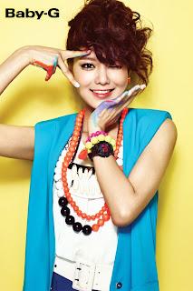 SNSD Sooyoung Casio Baby G Photos