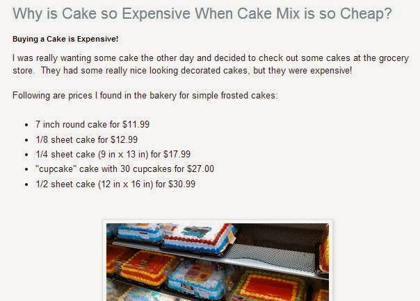Why is cake so expensive?