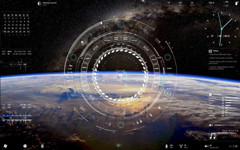 how to download rainmeter skins