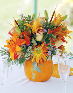 Beautiful Fall Wedding Centerpieces Pumpkin