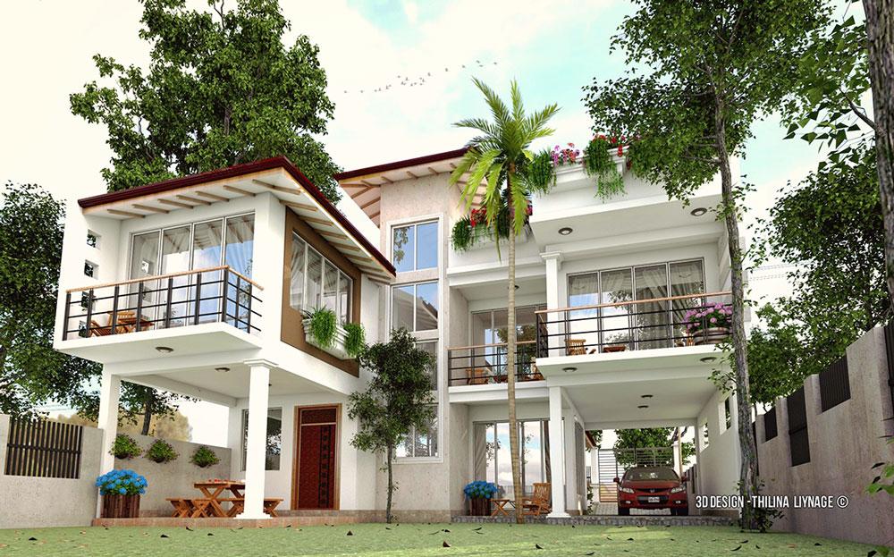 Sketchup texture free sketchup 3d model modern villa 30 for Villas 3d model