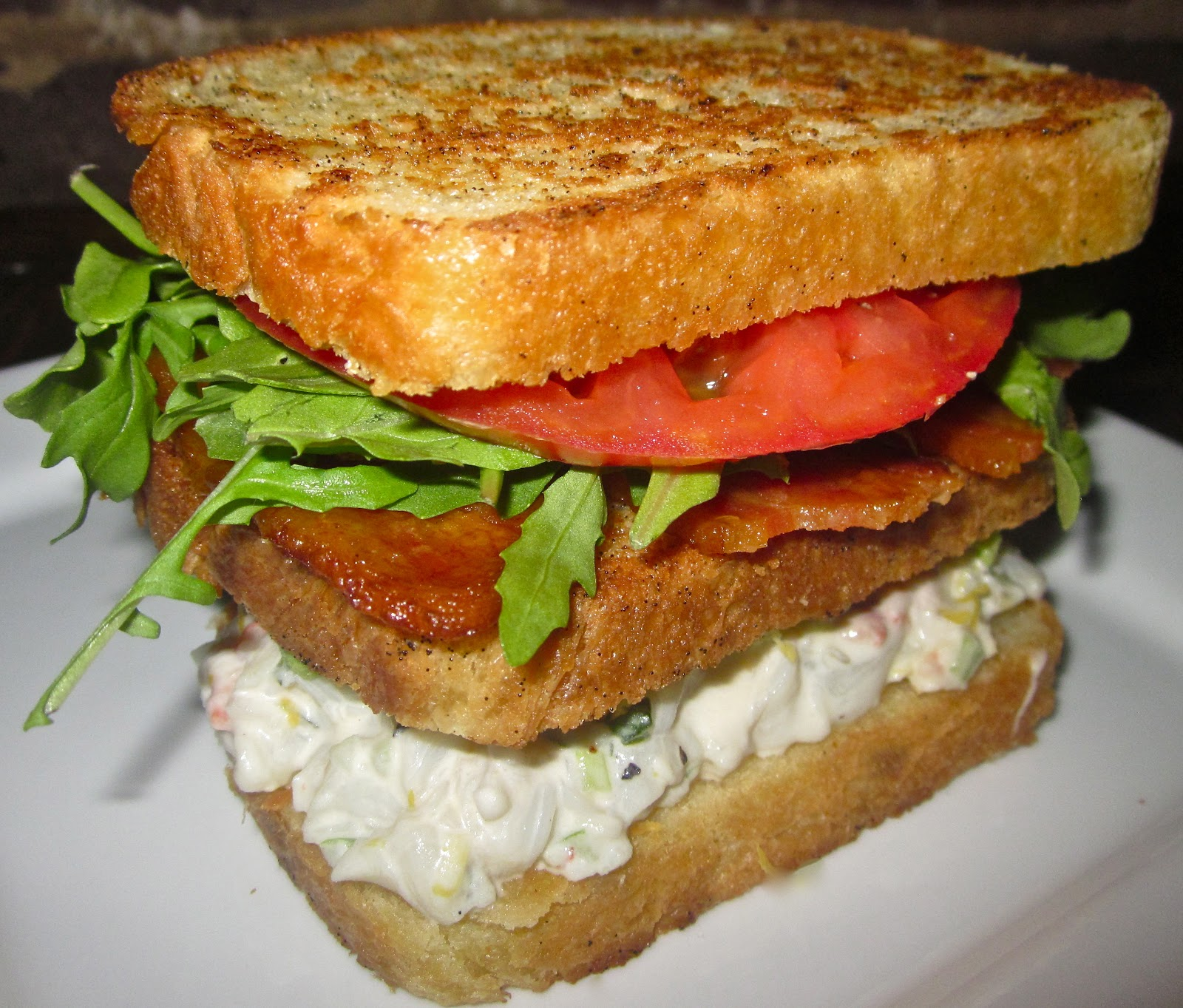 Haute + Heirloom: Lobster Club Sandwich with Vanilla Bean Butter Fried ...