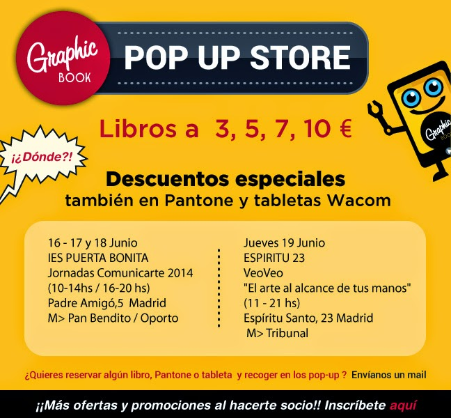 Fechas de las Pop Up Store de GraphicBook