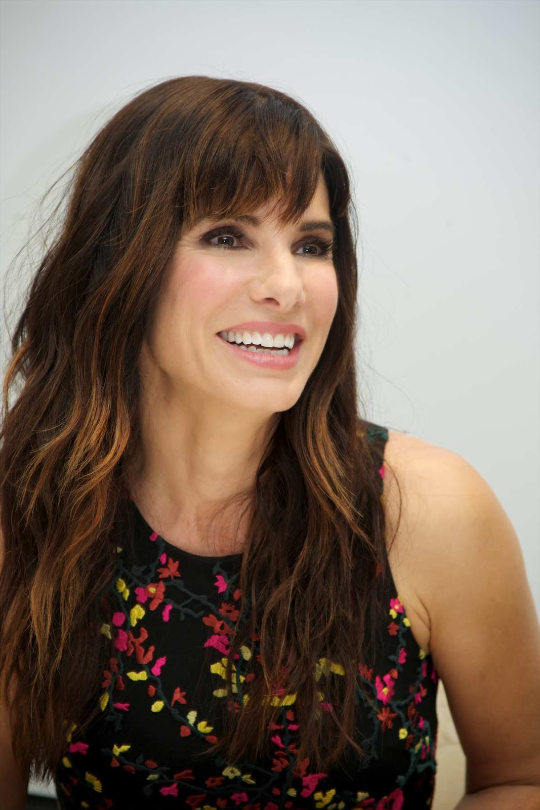 Sandra Bullock is chic in a floral dress at the 'Our Band ... Sandra Bullock