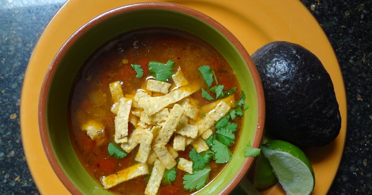 ... Tortilla Soup starring Pressure Cooker Rotisserie Chicken Stock