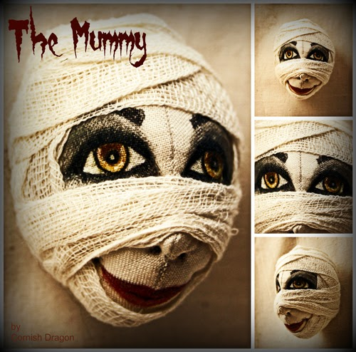 mummy halloween cloth art doll decoration
