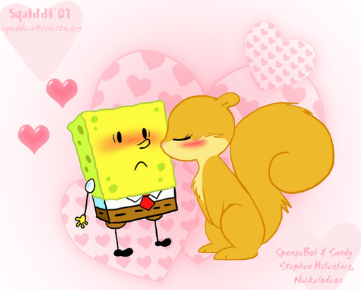 Chibi SpongeBob and Sandy por StePandy
