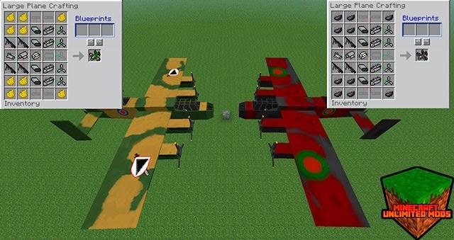 Flan's Mod aeroplanos