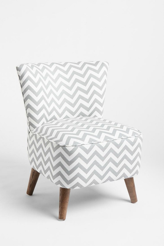 ... With Small Pops Of Bright Blue (seen In This Chair I DIY Ed). This Chevron  Chair Is From Urban Outfitters. We Might Need To Talk About That For A Bit.