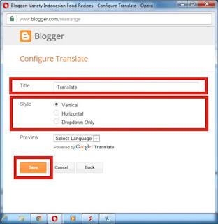 Membuat Widget Google Translate Di Blog