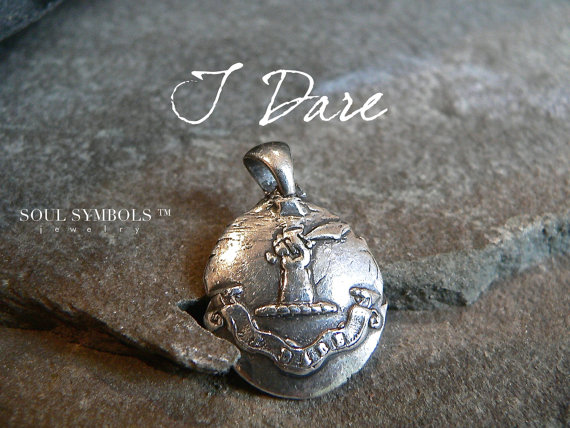 mens wax seal pendant from Your Daily Jewels