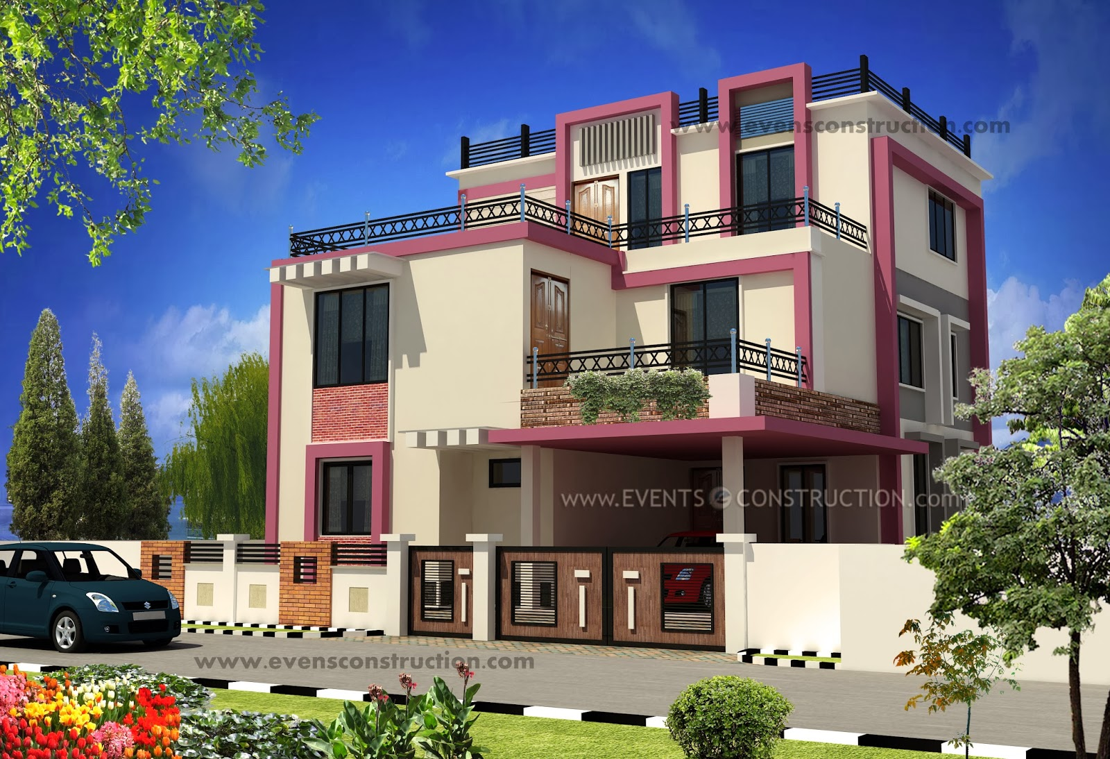 Designs Of Compounds Of Indian Houses Modern House