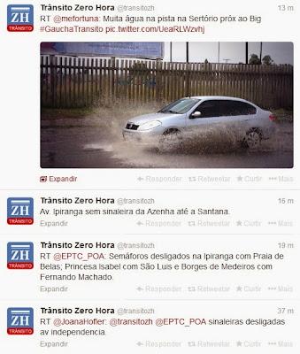 TWITTER TRANSITO PORTO ALEGRE TWITTER ZERO HORA