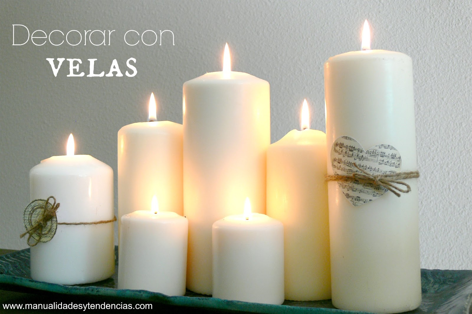 Manualidades y tendencias decorar con velas candle decoration ideas - Decorar con velas ...