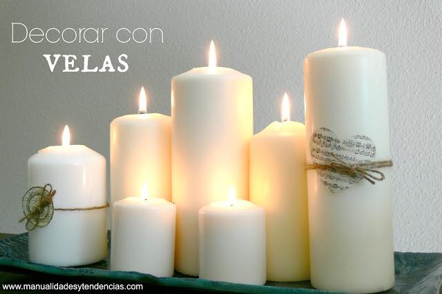 Decoración vintage con velas