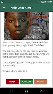 Music on Naija Jam Alert android app