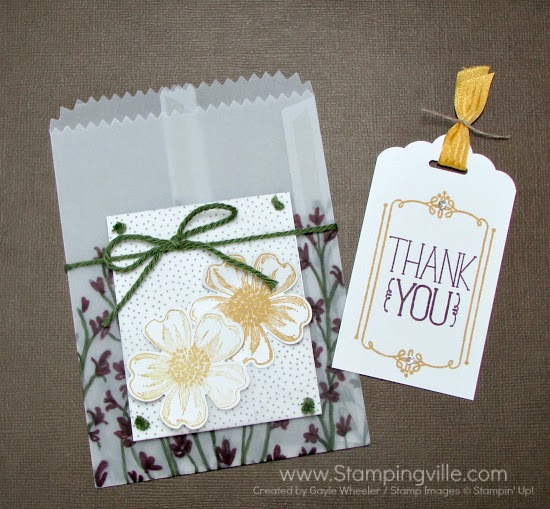Simple and pretty Thank You tag. #papercrafts #cardmaking #StampinUp
