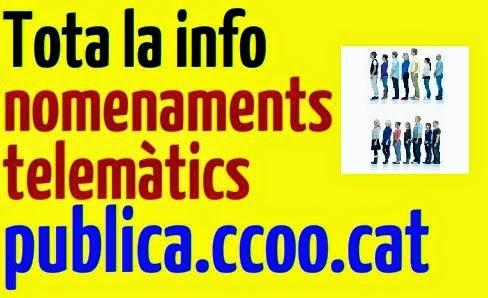 Nomenaments telemàtics a publica.ccoo.cat