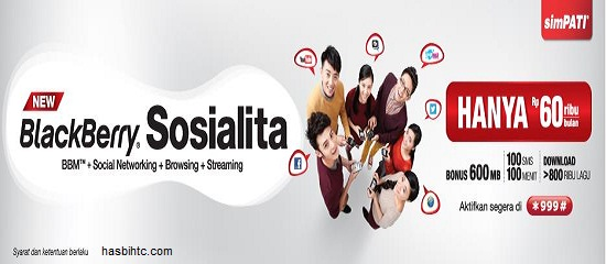 Promo Paket BlackBerry New Sosialita Telkomsel