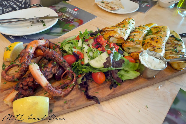 Seafood Platter - Grilled Octopus and Grilled Calamari