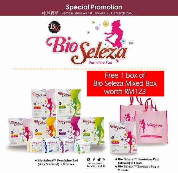 tuala wanita untuk haid banyak, tuala wanita Bio Seleza, Bio Seleza anti-bacterial, Bio Seleza menang award, diskaun, byrawlins, sanitary pads, tuala wanita untuk #MissV, penjagaan vagina