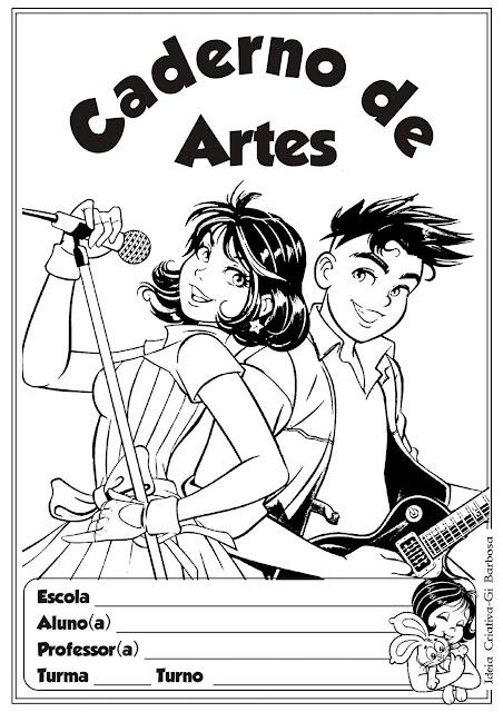 Capas para Caderno Turma da Mônica Jovem