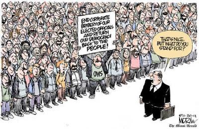 Cartoon: Occupy Movement seeks to regain democracy