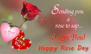 rose day photo with quotes