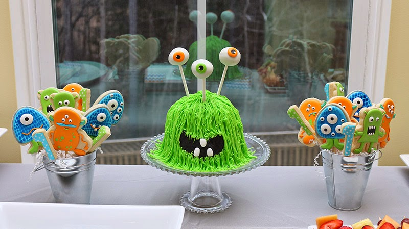 monster cake and cookies