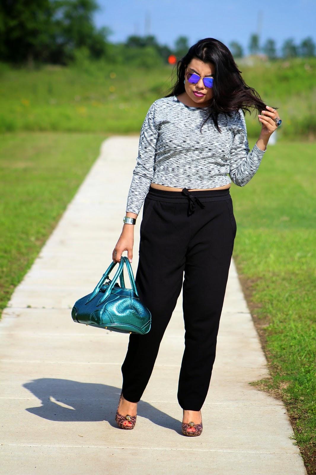 fashion blogger mirror sunglasses