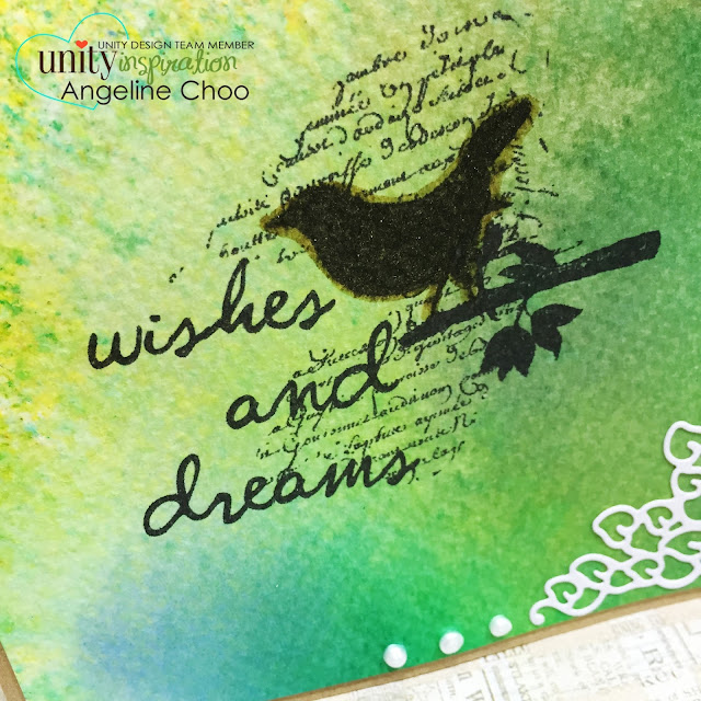 ScrappyScrappy: Wishes and dreams #scrappyscrappy #unitystampco #card #dylusions