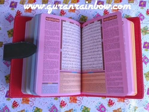 gambar tampilan dalam al-quran rainbow tajwid dan terjemah ar-razaq